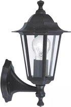 EGLO Laterna 4 Wandlamp - Voor buiten - 1 Lichts - Zwart - Helder