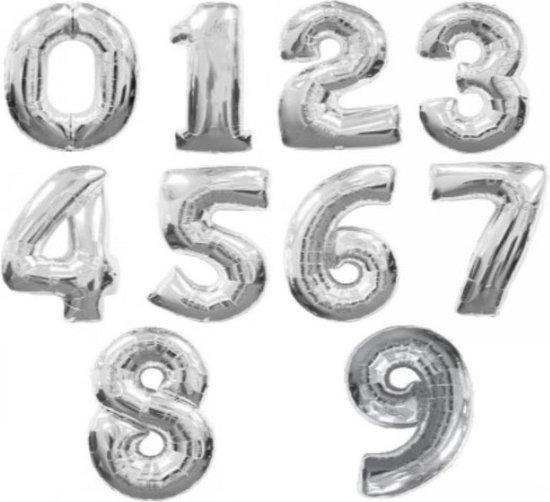 Folie ballon zilveren 20