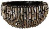 Schelpenvaas rough shell ovaal bruin 60cm