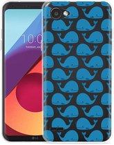 LG Q6 Hoesje Whales