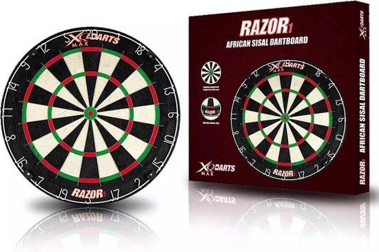 Afbeelding van het spel XQ-Max Darts Razor 1 Dartbord - Afrikaans Sisal