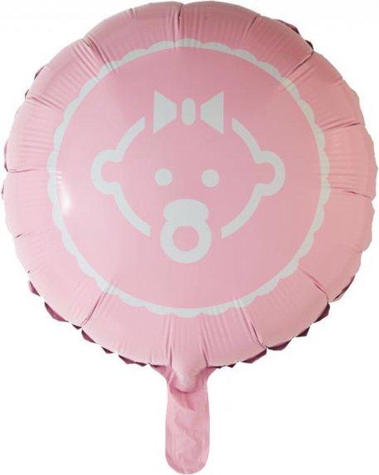 Helium Ballon Baby Girl Lichtroze 45cm leeg