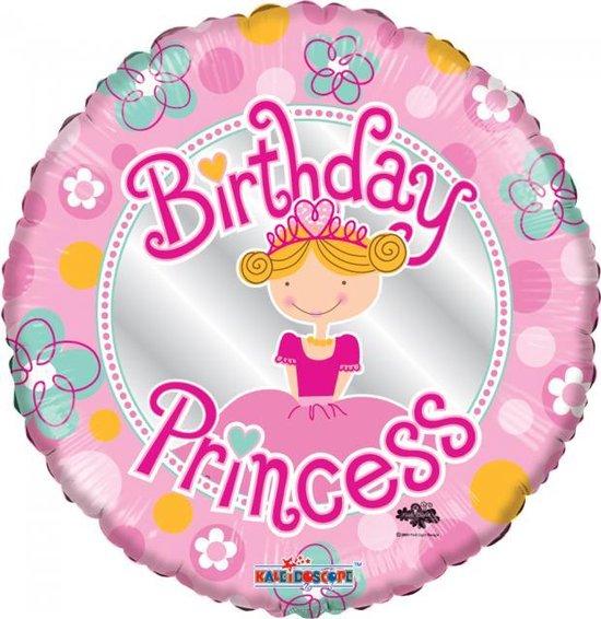 Helium Ballon Birthday Princess 45cm leeg