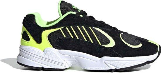 adidas Yung-1 Sneakers - Maat 43 1/3 - Mannen - zwart/lime groen/wit