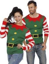 Kerst & Oud & Nieuw Kostuum | Kersttrui Groen Kerstelf | XL | Carnaval kostuum | Verkleedkleding
