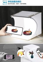 PULUZ - Mini Fotostudio - Met led verlichting - Dubbelle Ledstrip - Softbox - Lightbox - Foto Studio - Opvouwbare Foto Box - Camera Studio - Mini Studio - Productfotografie set - Draagbare Fotostudio