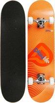 Playlife Skateboard - oranje/rood/blauw/wit