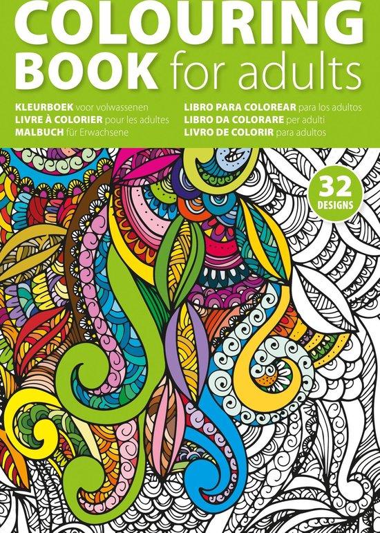 Afbeelding van Kleurboek volwassenen - 32 kleurplaten 16 pagina's - Mooi Kleurboek voor volwassenen
