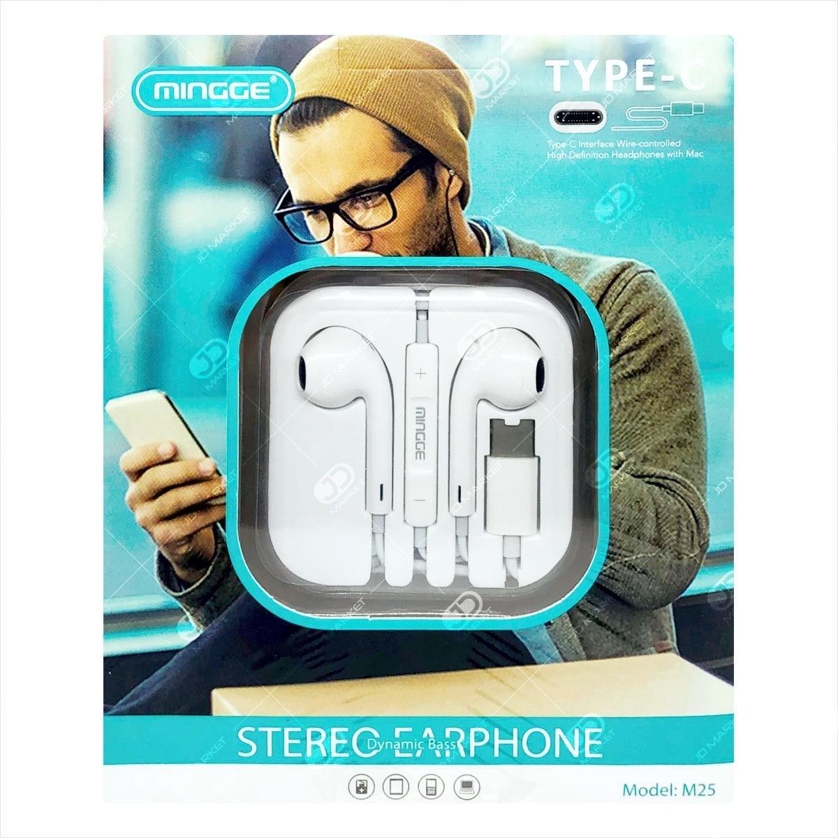 Mingge M25 USB Type C Oortjes met Microfoon oordopjes Apple / Samsung / Huawei / Xiaomi / OnePlus