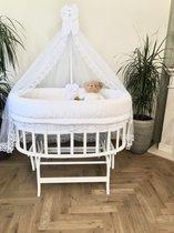 BabyRace Ovaal Wiegje - Schommelwiegje - Wit