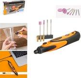 HANDY - Draadloze Graveerpen / Graveermachine voor Glas - USB oplaadbaar - Slijpen/Polijsten - Met inclusief 12 frezen!