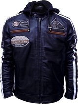 Urban Leather Fifty Eight Leren Motorjas Heren - Zwart - Maat XL