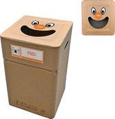 Kartonnen afvalbak PMD/plastic type smile (herbruikbaar)