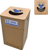 Kartonnen afvalbak Papier type smile (herbruikbaar)