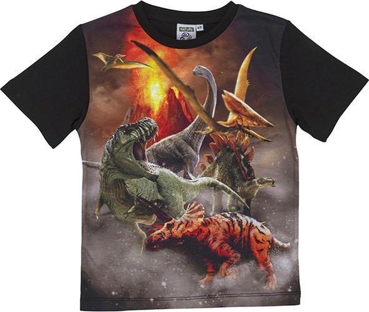 Nature planet - Dinosaurussen - Unisex - T-shirt - maat 116