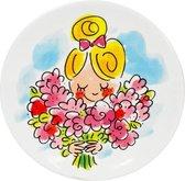 Blond Amsterdam Moederdag bord flowers - Ø 12cm