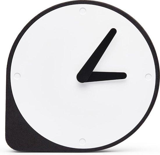 Puik Art Clork Cork Clock - Klok - Rond - Kunststof - Ø19 cm - Zwart / Wit