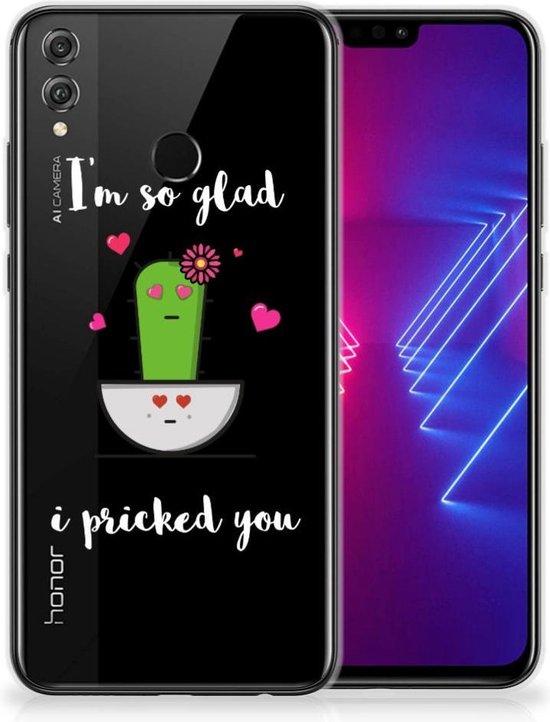 Honor 8X Telefoonhoesje met Naam Cactus Glad