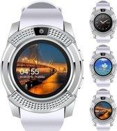 WiseGoods WSS1223 - Premium Smart Watch - Stappenteller met Touch Screen - Activity Tracker - Android / IOS - met Camera en SIM - Wit