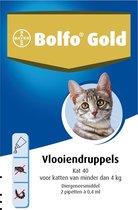 Bolfo Gold 40 Anti vlooienmiddel - Kat - 0 Tot 4 kg - 2 pipetten