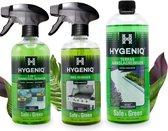 HYGENIQ ecologische tuinreiniging combipack - Veilig & Groen - 3-in-1 tuinmeubelreiniger - BBQ-reiniger - Terras aanslagreiniger
