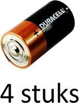 Duracell Plus alkaline C-batterijen - 4 stuks