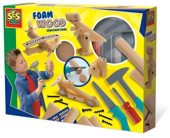 SES Foam hout constructies – Hobbypakket – Knutselen voor kinderen