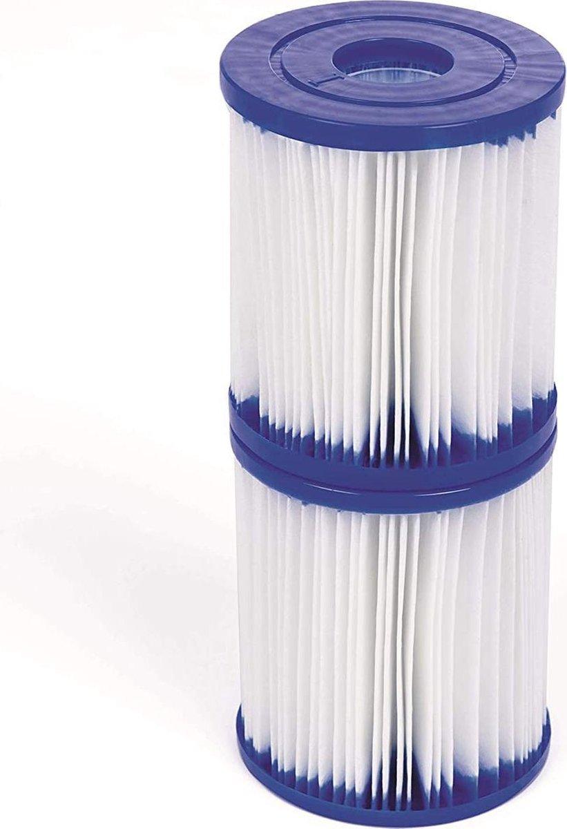 Bestway - zwembad filter voor pomp 1249 l/u - type 1 - 8 cm doorsnee - set van 2