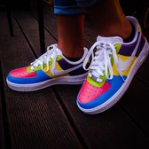 NIKE Air Force 1 (Dripp-Drop Custom 2020 Summer Edition) - Maat 38