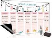 Magnetische Weekplanner (30) - Inclusief Magnetische Whiteboard Marker + Extra Magnetische Wisser - A3 Formaat - Kalender - Dagplanner kind - Planbord - Familieplanner - To Do Planner