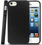Apple iPhone 5, 5s & SE Hoesje - Siliconen Back Cover - Zwart