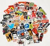 60x Skateboard stickers | Mr. BamBoom | Skateboard pimpen Set | Skating | Koffer | Laptop | Set 2