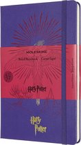 Moleskine Limited Edition Notitieboek Harry Potter Large (13x21 cm) Gelinieerd Brilliant Violet