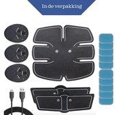 USB Oplaadbaar - EMS Buikspieren trainer - Trainer - Elektrische Buiktrainer - Ab Trainer-  10 Gratis Gelpads - Unisex - Zwart - ABS trainer