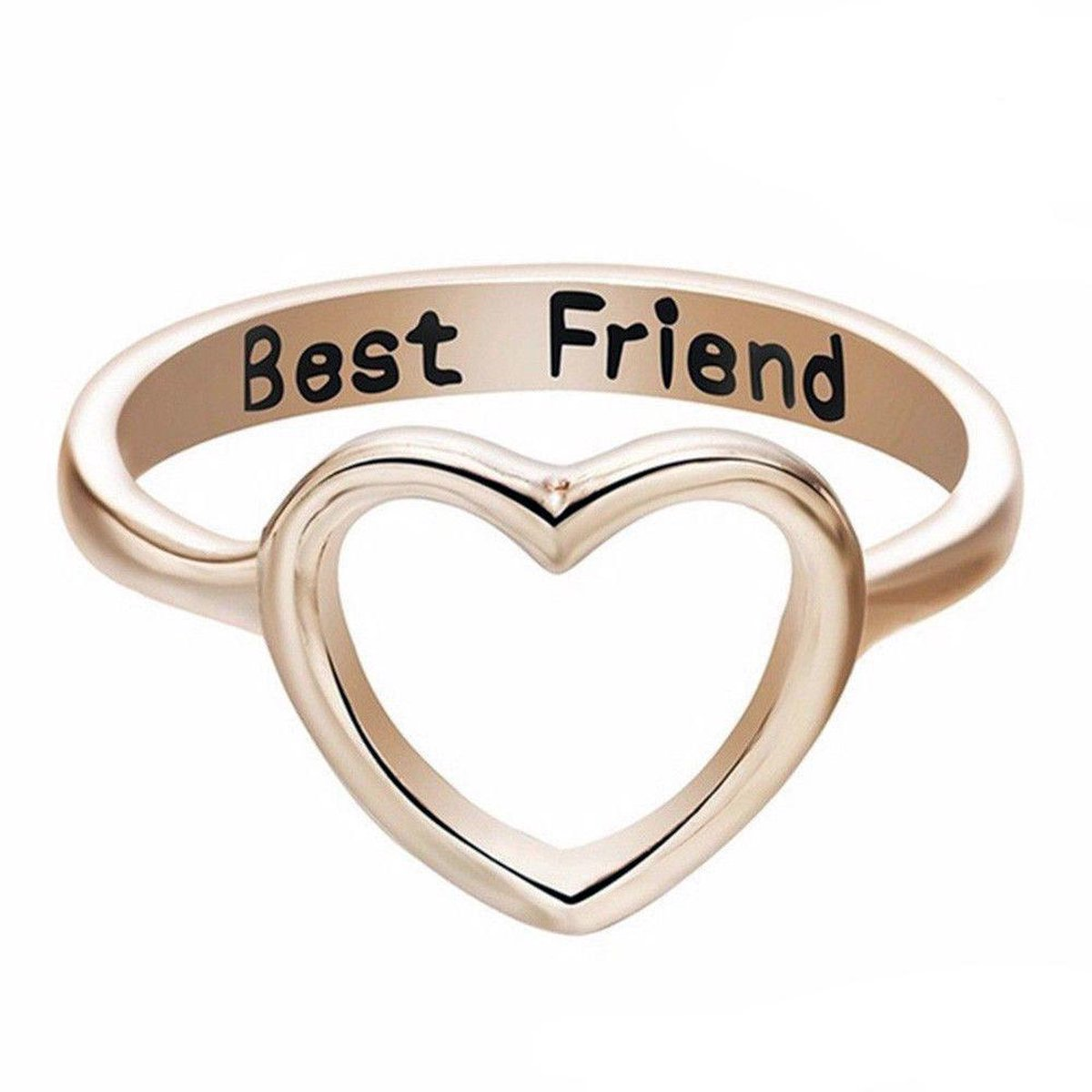 Zoëies® bff ring goudkleurig 18 mm