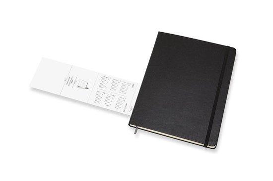Moleskine 12 Maanden Agenda - 2021 - Professional Wekelijks - Vertical XL (19X25 cm) - Zwart - Harde Kaft