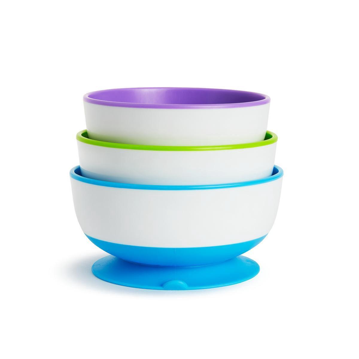 Munchkin Eet Kommen - Met zuignappen - 3 Stuks - Paars/Groen/Blauw