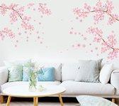 Vwist Muursticker Bloesem - Roze - Bloemen - XXL Muursticker - 188 x 195 CM