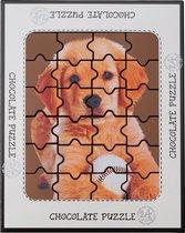 Weible chocolade puzzel puppy - 17,5 x 14 cm