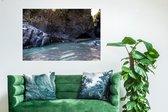 Sicily river/ Wanddecoratie / Foto op kunststof (Forex) / Canvasdoek kunststof / 90 x 60
