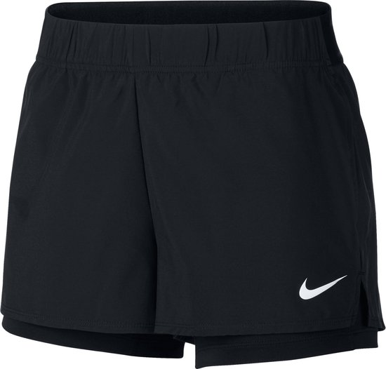 Nike W Nkct Flex Short Sportbroek Dames - Black/(White) - Maat S