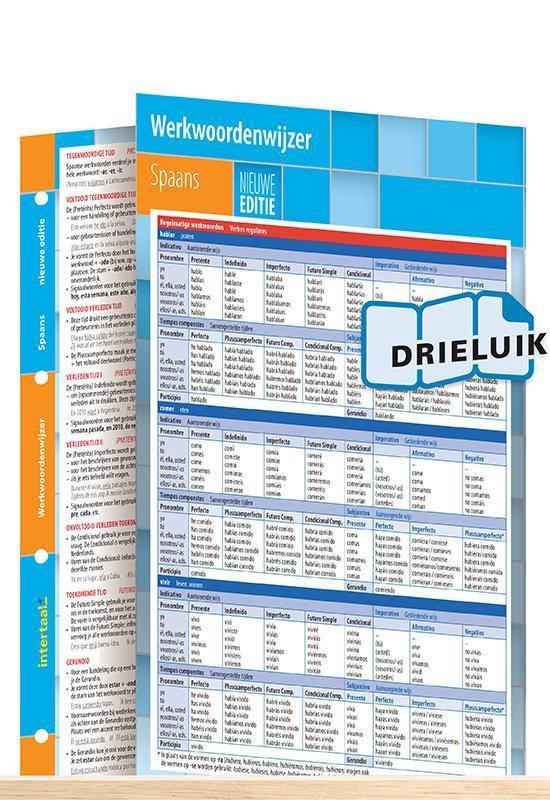 Werkwoordenwijzer Spaans - nieuwe editie uitklapkaart - Intertaal pdf epub