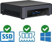 Intel NUC Compleet PC | Intel Core i3 / 7100U | 8 GB DDR4 | 120 GB SSD | 2x HDMI | Windows 10 Pro