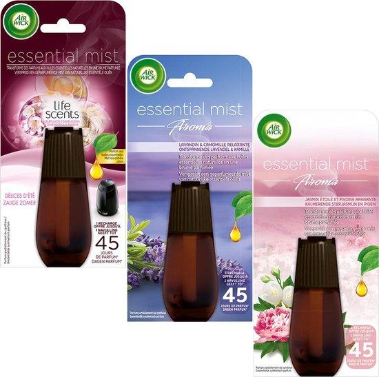 Air Wick Essential Mist Automatische Geurverspreider Luchtverfrisser - Gemixte Geuren Navulling - 3 Stuks - Voordeelverpakking