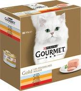 Gourmet Gold Mousse - Rund/Tonijn/Kalkoen - Kattenvoer - 48 x 85 g