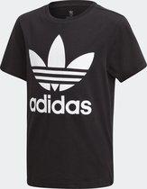 adidas TREFOIL TEE Unisex Shirt - Black/White - Maat 140