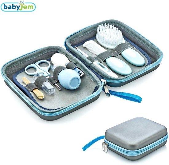 Baby Verzorgingsset - Thermometer - Kam - Manicureset - Nagelknipper - Tandenborstel – Blauw
