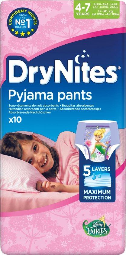 DryNites Absorberende Luierbroekjes Girl 4-7 jaar 10 stuks