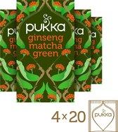 Pukka Ginseng Matcha Green Thee - 4 x 20 zakjes - Voordeelverpakking