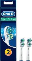 Oral-B Dual Clean - Opzetborstels - 2 stuks